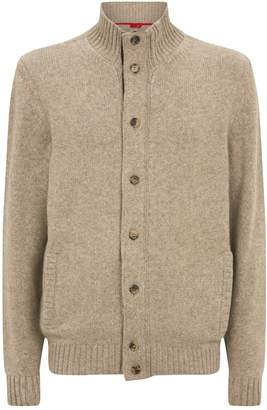 Isaia Knitted Funnel Cardigan