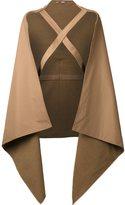 Nehera - braced cape coat - women - Cotton/Polyamide - One Size