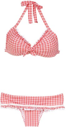 AMIR SLAMA Plaid Bikini Set