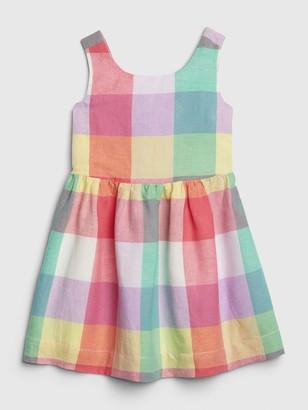 Gap Toddler Plaid Sleeveless Dress
