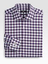 Boss Black Jaron Slim Gingham Dress Shirt