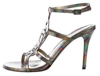 Alexander McQueen Leather Round-Toe Sandals