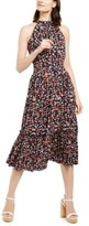 Michael Kors Michael Floral-Print Halter-Neck Midi Dress