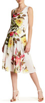 Robbie Bee Cowl Neck Floral Dress