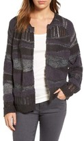 Hinge Women's Mixed Stripe Cardigan