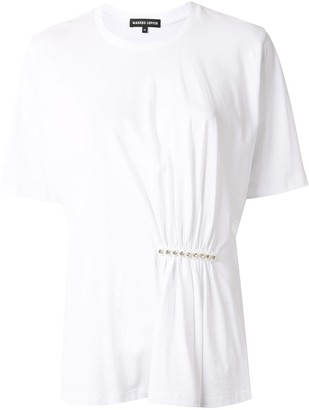 Markus Lupfer embellished bar T-shirt
