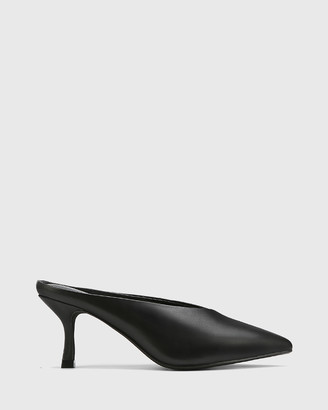 Wittner - Women's Black Heels - Devlin Leather Stiletto Heel Pointed Toe Mules - Size One Size, 37 at The Iconic