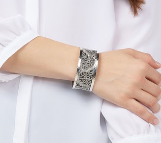 Lois Hill Sterling Silver Concave Cuff Bracelet, 58.0g