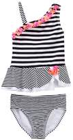 Flapdoodles Black/White Striped 2-Piece (Little Girls)