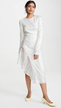 Walk Of Shame White Sequins Dress