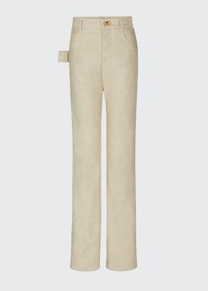 Bottega Veneta Raw Denim Cotton Jeans