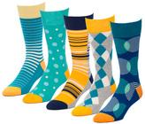 Colossal Blue 5 Pairs Men's Crew Socks