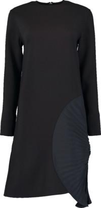 Victoria Beckham Pleated Panel Shift Dress