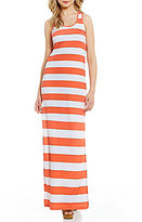 MICHAEL Michael Kors Rugby Stripe Knit Jersey Maxi Tank Dress