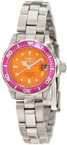 Invicta Women's 11440 Pro Diver Mini Orange Dial Stainless Steel Watch