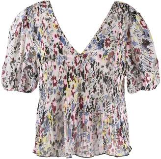 Ganni floral print blouse