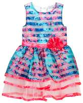 Nicole Miller Floral Printed Striped Dress (Little Girls)