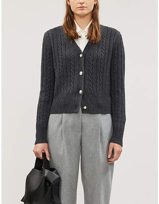 Sandro Cable-knit wool-blend cardigan