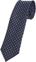 Oxford Tie Silk Multi Spot Print Regular