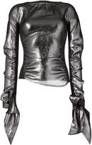 Lemaire metallic flared sleeve top