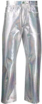 Acne Studios 1996 Holographic Foil straight-leg jeans