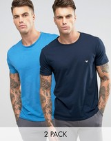 Emporio Armani Regular Fit T-shirt In 2 Pack