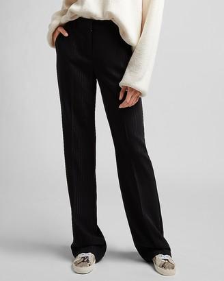 Express High Waisted Metallic Pinstripe Trouser Pant