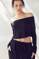 Out From Under Chill Out Off-The-Shoulder Cropped Top