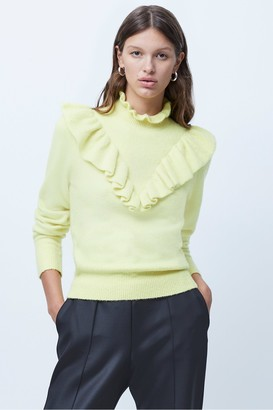 French Connection Mira Flossy Knit Frilled Jumper