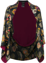 Etro embroidered fitted jacket - women - Silk/Polyester/Viscose - One Size