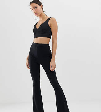 Fashionkilla Tall flared pants-Black