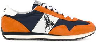 Polo Ralph Lauren logo panelled sneakers