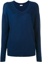 Le Kasha - cashmere v-neck jumper - women - Cashmere - S