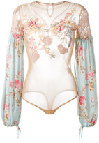 Amen sheer bell sleeve body