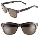 BOSS Men's 53Mm Polarized Sunglasses - Havana Black/ Brown Grey