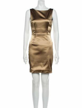 Dolce & Gabbana Bateau Neckline Mini Dress Gold