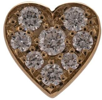 Sophie Bille Brahe 18kt yellow gold Petite Coeur diamond stud