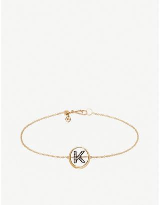 Annoushka 18ct yellow gold and diamond Initial K bracelet
