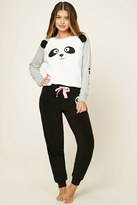 Forever 21 FOREVER 21+ Fleece Panda PJ Set