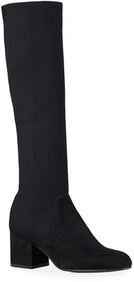 Eileen Fisher Most Suede Stretch Knee Boots