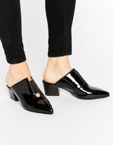 Asos SWEETNESS Leather Pointed Mules