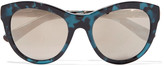 Dolce & Gabbana Cat-eye acetate and gold-tone sunglasses