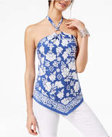 INC International Concepts I.n.c. Floral-Print Halter Top, Created for Macy's