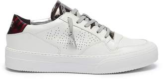 P448 'Space' paneled leather sneakers