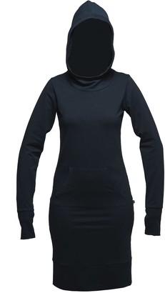 Non+ Non462 Black Kangaroo Pocket Dress