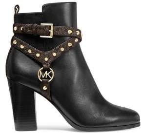 Michael Kors Preston Leather Booties