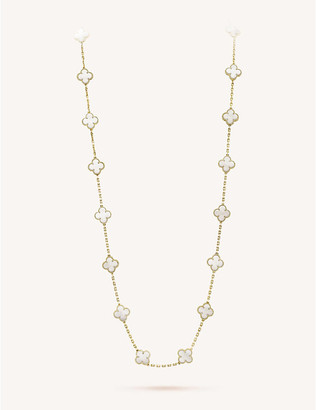 Van Cleef & Arpels Women's Yellow Gold Vintage Alhambra And Mother-Of-Pearl Necklace