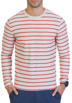 Nautica Slim-Fit Striped Terry Crew Shirt