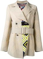 Issey Miyake geometric pattern coat