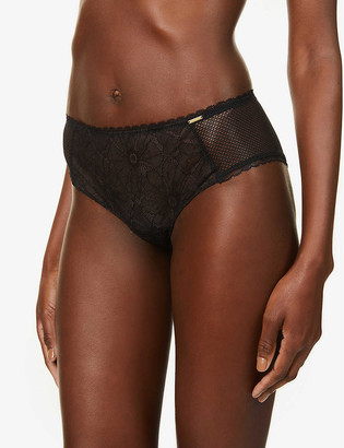Chantelle Tailor high-rise stretch-lace shorty briefs